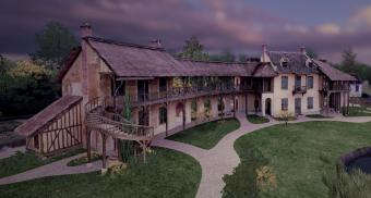 virtual view of the Queen's house in Marie-Antoinette's estate