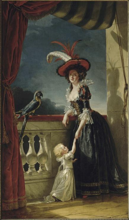Portrait de Louise-Elisabeth de France, duchesse de Parme