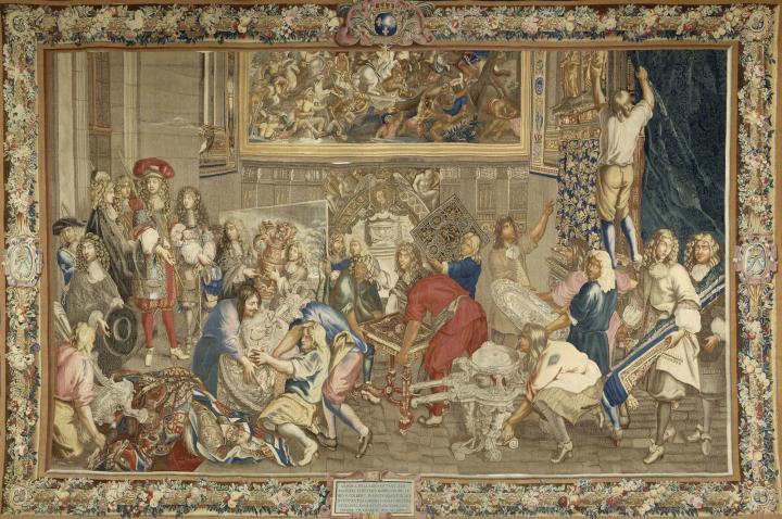 Histoire du Roy : Le Roy Louis XIV visitant les Manufactures des Gobelins