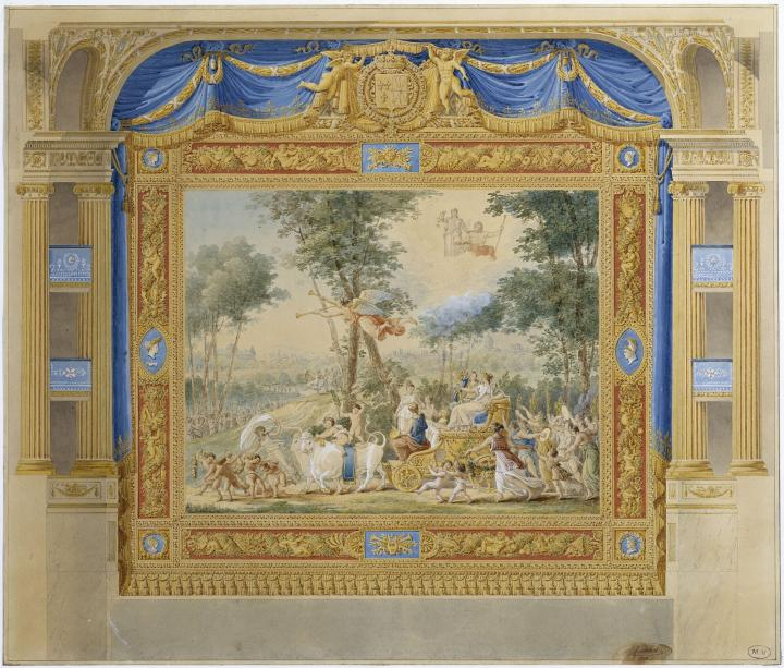Festivities and entertainment at court palace of versailles - Theatre porte saint martin ...