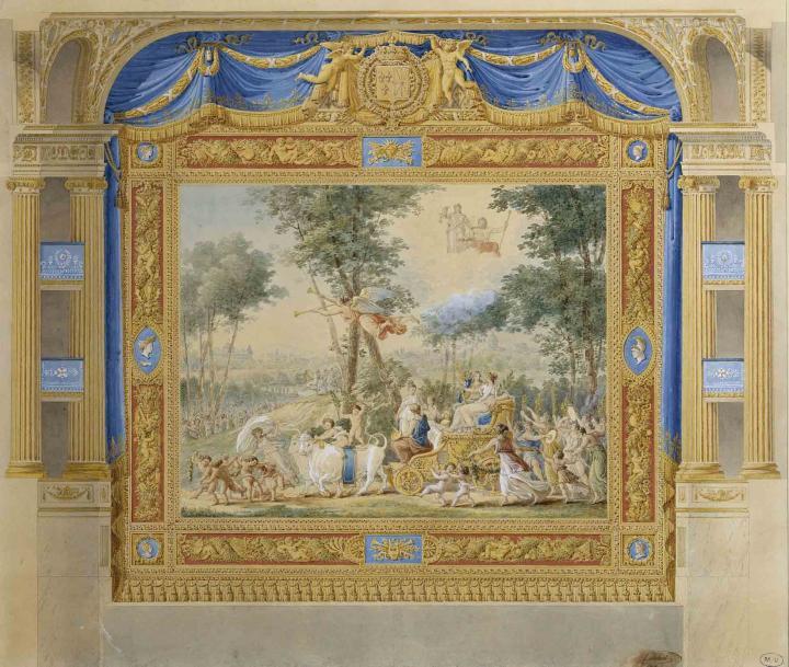 Festivities and entertainment at court palace of versailles - Theatre de la porte saint martin plan ...