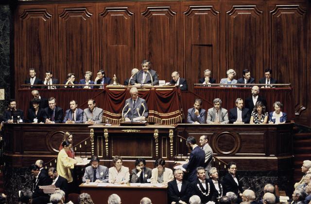 The speech of Edouard Balladur, Prime minister