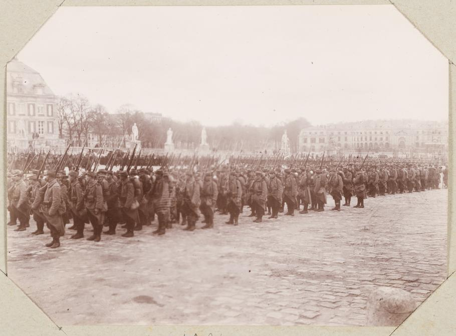 Military parade in the Honour Courtyard