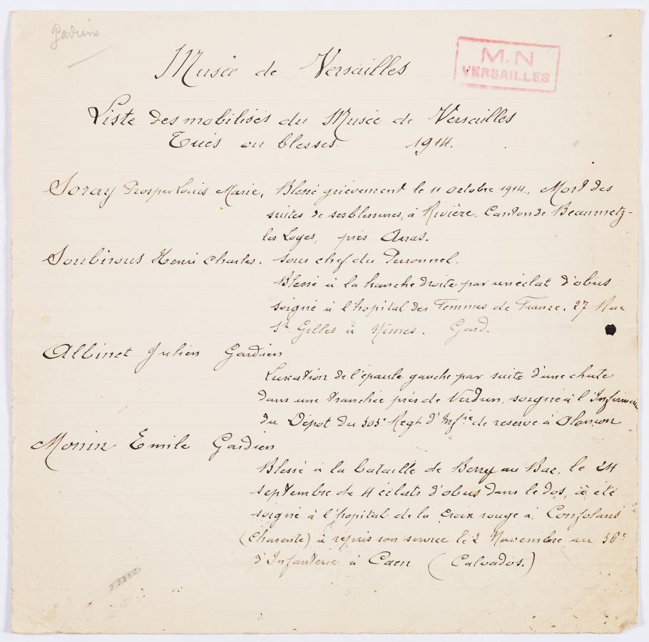 List of museum attendants