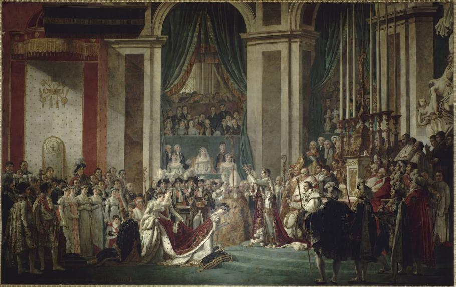 Coronation of Napoleon and Josephine at Notre Dame, 2 December 1804