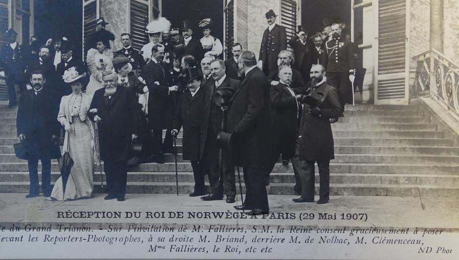 Reception of the King of Norway in Paris (29 May 1907)- Grand Trianon visit