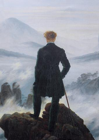 Le Voyageur au-dessus de la mer de nuages, Caspar David Friedrich