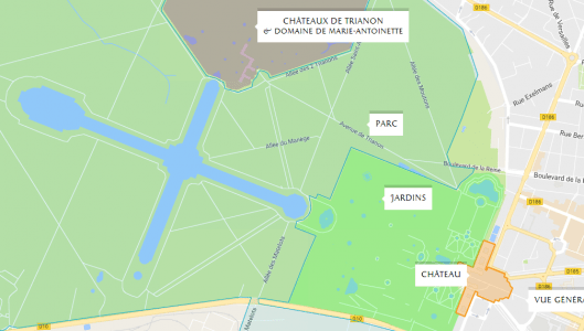 Map Of France Versailles.Visit Routes And Advice Palace Of Versailles
